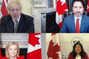 Anh ký thỏa thuận thương mại với Canada