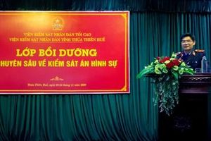 VKSND tỉnh Thừa Thiên Huế bồi dưỡng chuyên sâu về kiểm sát án hình sự