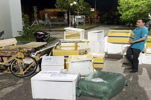 Bắt xe tải vận chuyển số lượng lớn hàng nhập lậu