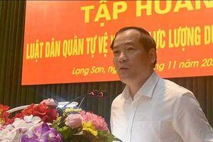 Lạng Sơn: Tập huấn Luật Dân quân tự vệ và Luật Lực lượng dự bị động viên