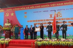 Ninh Hiệp đón nhận danh hiệu Anh hùng lực lượng vũ trang Nhân dân