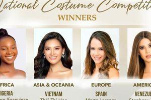 Soi bộ trang phục giúp Thái Thị Hoa giành giải phụ ở Miss Earth 2020