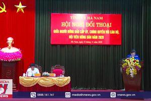 Tỉnh ủy Hà Nam đối thoại với nông dân