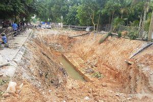 Quảng Ninh: Lại vỡ mương đầu nguồn hồ Yên Lập