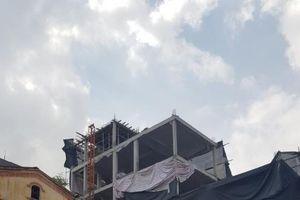 Ngọc Thụy - Long Biên: Công trình sai phép thi công ẩu, dân bức xúc