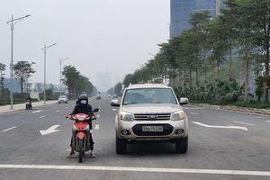 Đóng làn xe thô sơ đường Nguyễn Xiển- Xa La, phương tiện đi lại cần lưu ý gì?