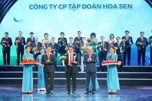 Tôn Hoa Sen nhận Thương hiệu Quốc gia lần thứ 5