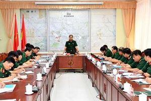 Đoàn công tác Bộ Tổng tham mưu làm việc với Bộ Chỉ huy quân sự tỉnh An Giang