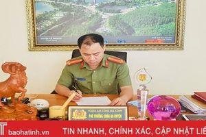 Trung tá công an ở huyện miền núi Hà Tĩnh được 'dân quý, dân tin'