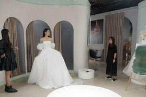 Doãn Hải My tung ảnh mặc váy cưới, Đoàn Văn Hậu được 'réo tên'