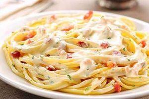 Đổi vị món mỳ Ý sốt phô mai thịt xông khói ngon, béo ngậy cho cả nhà