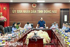Phó bí thư Tỉnh ủy Quản Minh Cường làm việc với Sở Tư pháp