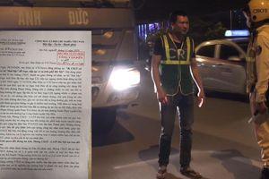 CSGT Hà Nội thông tin việc xe tải Anh Đức 'thải bậy' ra đường phố