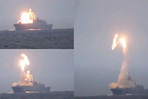 Khu trục hạm Đô đốc Gorshkov phóng tên lửa Zircon với tốc độ vượt 8 Mach