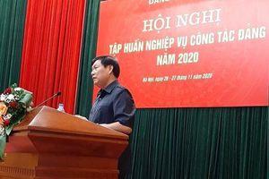 Đảng ủy Bộ Y tế tổ chức Hội nghị tập huấn nghiệp vụ công tác Đảng năm 2020