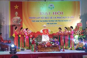 Thành lập Hội bảo vệ, phát huy di sản 'Thực hành tín ngưỡng thờ mẫu tam phủ của người Việt'