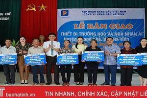 Công ty Xăng dầu Hà Tĩnh hỗ trợ 240 triệu đồng xây dựng nhà nhân ái và thiết bị dạy học tại Hương Khê