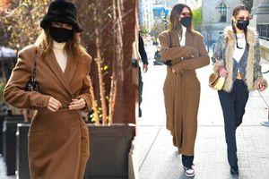 Bạn thân siêu mẫu gặp nhau: Kendall Jenner mặc kín mít vẫn 'chặt đẹp' Bella Hadid