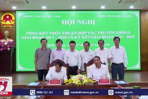 TTXVN tăng cường hợp tác thông tin với Kiên Giang