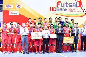 Giải futsal Cúp quốc gia HDBank 2020: Sanvinest Sanatech Khánh Hòa giành ngôi á quân