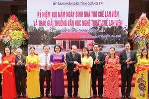 Kỷ niệm 100 năm ngày sinh nhà thơ Chế Lan Viên