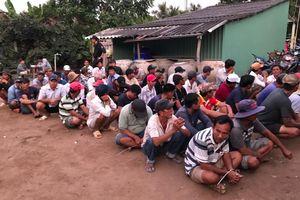 69 người bị bắt tại sới bạc ở Tiền Giang