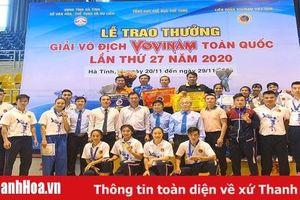 Thanh Hóa xếp thứ ba toàn đoàn tại giải vô địch Vovinam toàn quốc 2020