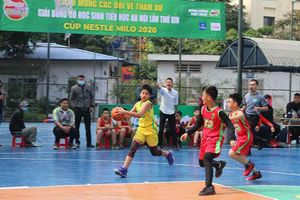Khai mạc vòng chung kết Giải Bóng rổ học sinh tiểu học Hà Nội 2020