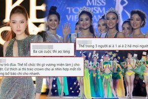 'Hốt sạn' đêm chung kết Hoa khôi Du lịch Việt Nam: Fan 'tẩy chay' không nên tổ chức mùa giải tiếp theo