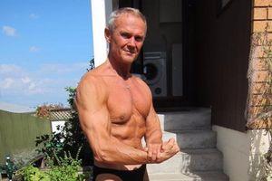 Người đàn ông ăn chay có cơ bắp chắc khỏe ở tuổi 65