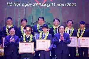 Giải thưởng Tuổi trẻ sáng tạo toàn quốc năm 2020 vinh danh 37 công trình