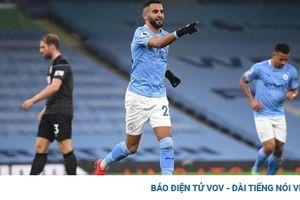Mahrez ghi hat-trick, Man City thắng đậm Burnley