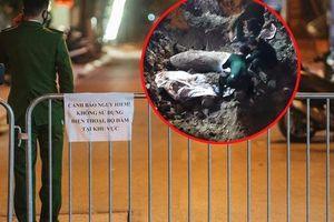 Cận cảnh khu vực phong tỏa nơi phát hiện và di dời thành công quả bom 340kg ở Hà Nội, người dân đã sơ tán trong đêm