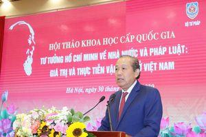 Hội thảo 'Tư tưởng Hồ Chí Minh về Nhà nước và pháp luật: Giá trị và thực tiễn vận dụng ở Việt Nam'