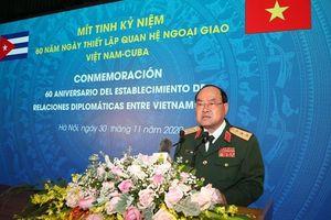 Mít tinh kỷ niệm 60 năm Ngày thiết lập quan hệ ngoại giao Việt Nam-Cuba