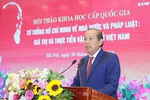 Tinh thần thượng tôn pháp luật trong tư tưởng Hồ Chí Minh