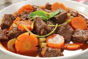 Nấu bò sốt vang thơm ngon đậm đà hương vị miền Bắc