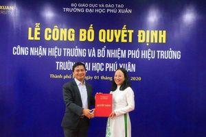 Trường Đại học Phú Xuân bổ nhiệm hiệu trưởng mới