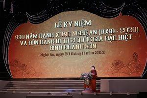 Kỷ niệm 990 năm Danh xưng Nghệ An: Hồn thiêng sông núi, mảnh đất địa linh nhân kiệt