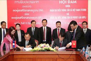Hợp tác TTXVN - KPL: Trưởng thành trong dòng chảy lịch sử hữu nghị đặc biệt Việt - Lào