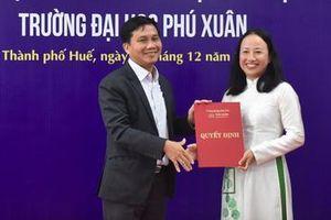 TS Hồ Thị Hạnh Tiên làm Hiệu trưởng Trường ĐH Phú Xuân
