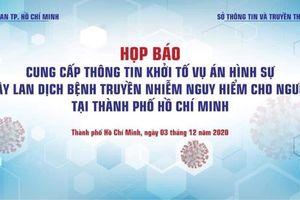 Công an TP Hồ Chí Minh khởi tố vụ án liên quan đến bệnh nhân 1342 vi phạm quy định cách ly