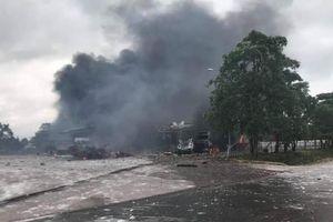 Hỏa hoạn tại khu vực cửa khẩu Đen Sa Vẳn làm 8 người thương vong