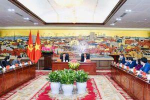 Nguyên Chủ tịch nước Trương Tấn Sang thăm và làm việc tại Hải Phòng