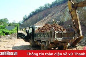 Đã xử lý hoạt động khai thác đất trái phép tại xã Cầu Lộc