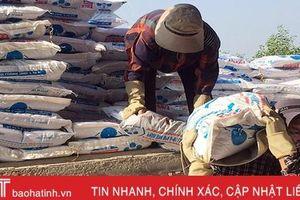 Hơn 600 tấn phân bón phục vụ sản xuất vụ đông ở Hương Khê