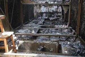 Cận cảnh hiện trường vụ cháy hệ thống điều hòa của khu chung cư HH2 Complex, Hà Nội