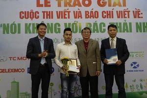 Báo Gia đình & Xã hội giành giải Nhất cuộc thi báo chí viết về 'Nói không với rác thải nhựa'