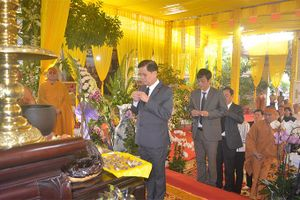 Lãnh đạo tỉnh Khánh Hòa viếng Trưởng lão Hòa thượng Thích Ngộ Tánh