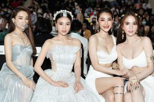 Lan Ngọc, Nhã Phương, Ngọc Trinh diện đồ sexy xem show thời trang